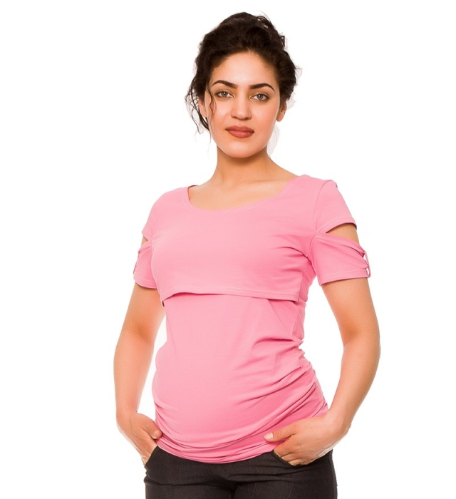8acf75d275c6 Tehotenské a dojčiace tričko Lena - ružové - Pretehulky
