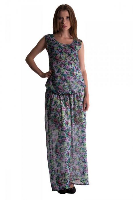 f2e1d65b0 Letné, vzdušné tehotenské šaty s potlačou kvetín-viac farieb ...